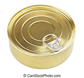 Tincan With Key - tincan with key, isolated on white...