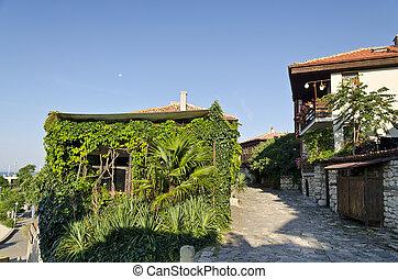 House of the Old town of Nesebar, Bulgaria, Bulgarian Black...