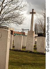 cemetery fallen soldiers in World War I Flanders Belgium