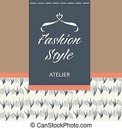 Tailoring of fabric, fur and leather. Logo - Template vector...