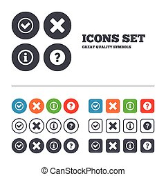 Information icons. Question FAQ symbol. - Information icons....