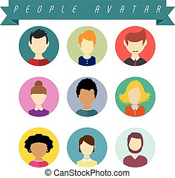 People Avatareps - Set of vetor people avatar Fully editable...