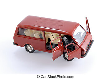 Collection scale model of the car Minibus