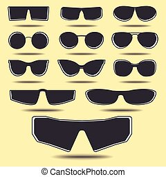 Glasses - Set of eyeglasses, different size and form Vector...