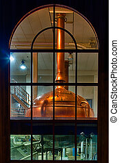 Distillery tanks brewery - Traditional copper distillery...