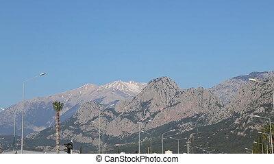 Türkei, berg, landschaftlich, Dorf, Antalya, akseki, Ansicht...