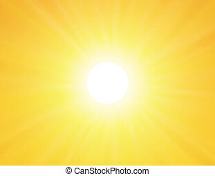 sun on yellow background - vector sun on yellow background...