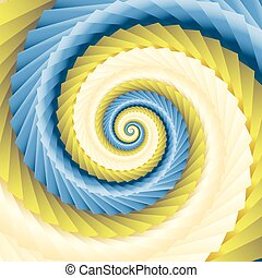 color abstract spirals