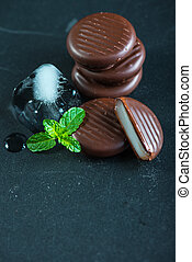 refreshing chocolate with mint