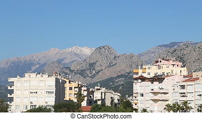 Scenic view of a mountain village Akseki Antalya Turkey -...