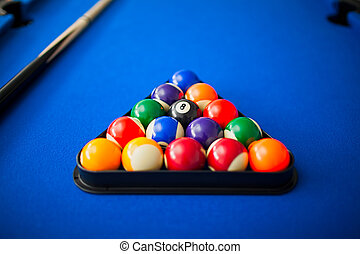 pool balls in triangle