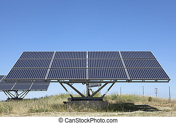 Solar photovoltaics panels field for renewable energy...