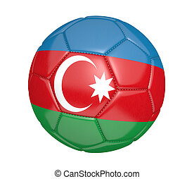 Soccer ball with flag of Azerbaijan - Soccer ball, or...