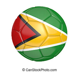 Soccer ball with flag of Guyana - Soccer ball, or football,...
