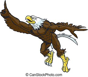 Vector Cartoon Bald Eagle Mascot - Vector cartoon clip art...