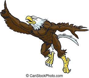 Vector Cartoon Bald Eagle Mascot - Vector cartoon clip art...