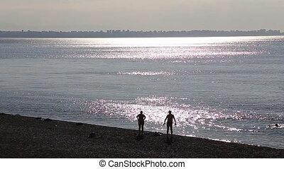 Peple beach at sunset