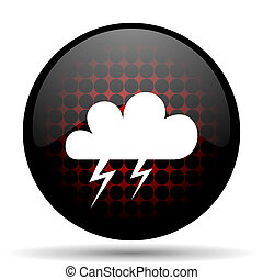 storm red glossy web icon