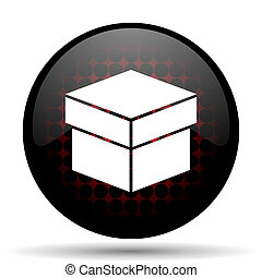 box red glossy web icon