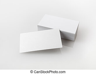 Business cards - Photo of blank business cards Template for...