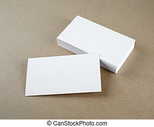 Business cards - Blank business cards. Template for branding...