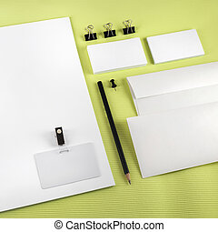 Corporate identity set - Blank corporate identity set on...