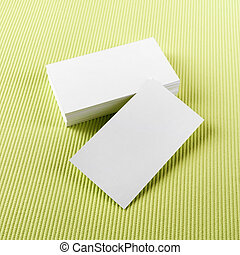 Blank business cards - Photo of blank business cards on...