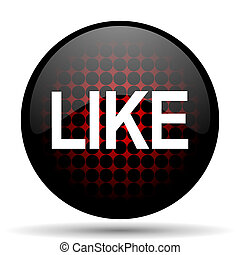 like red glossy web icon