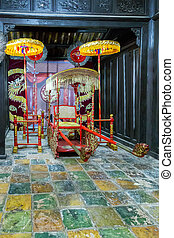vietnamese buddha old temple. - Palanquin in vietnamese...