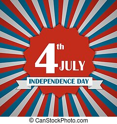 Independence Day Poster Vector Illustration Eps10