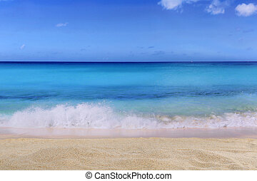 Beach background scene in summer on vacation with waves