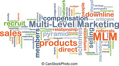Multi-level marketing MLM background concept - Background...
