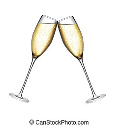 Glass of Champagne Vector Illustration EPS10