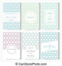 Set of card templates