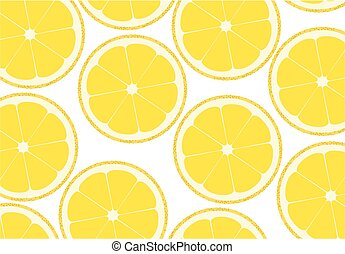 Lemon background - Background from the cut lemons