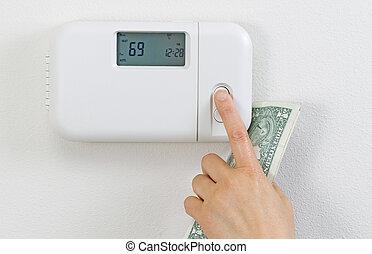 Saving money from heating home