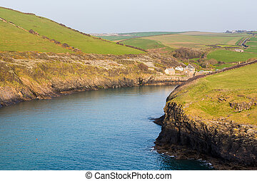 South West coast path near Port Quin Cornwall - South West...