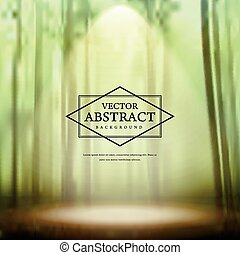 graceful bamboo forest blurred background - abstract...