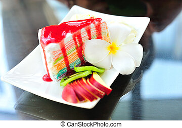 Various Pieces of cake - An Various Pieces of cake in soft...