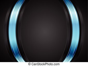 Dark corporate background with glow blue light