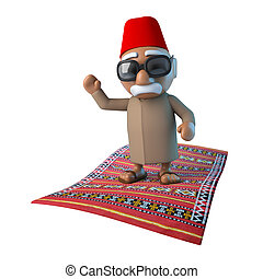 3d Moroccan on flying carpet