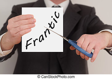 Frantic, determined man healing bad emotions - Frantic, man...