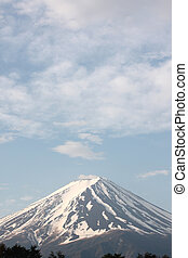 Mount Fuji. - Mount Fuji in blue sky of background.