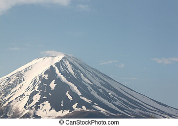 Mount Fuji - Mount Fuji in blue sky of background