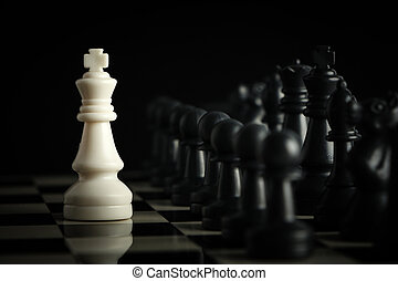 Chess against - One chess is staying against full army of...