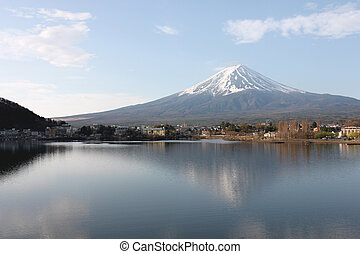 Mount Fuji in kawaguchiko lake view - Mount Fuji in...