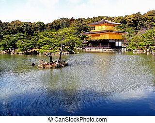 Kinkaku (The Golden Pavilion, Kyoto/Japan) - Golden Pavilion...