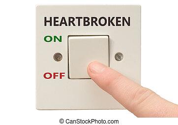 negociando, coração partido, desligado, aquilo, volta