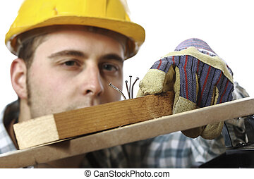 something wrong in my work - young caucasian manual worker...