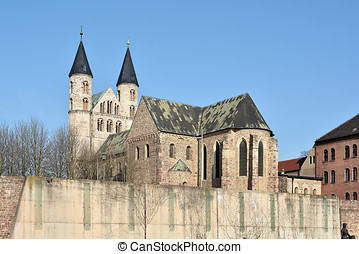 Magdeburg - monastery Unser Lieben Frauen in the old town of...